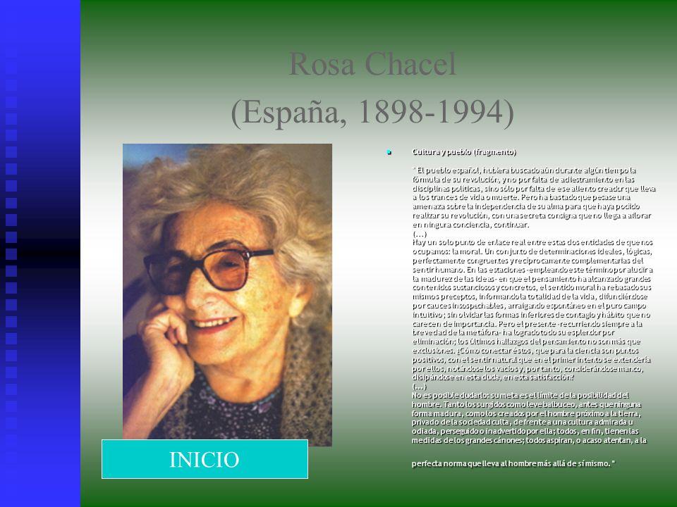 Rosa Chacel (España, 1898-1994) Cultura y pueblo (fragmento)
