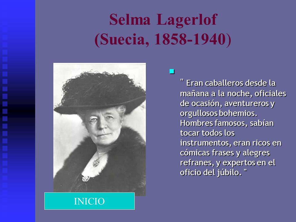 Selma Lagerlof (Suecia, 1858-1940)