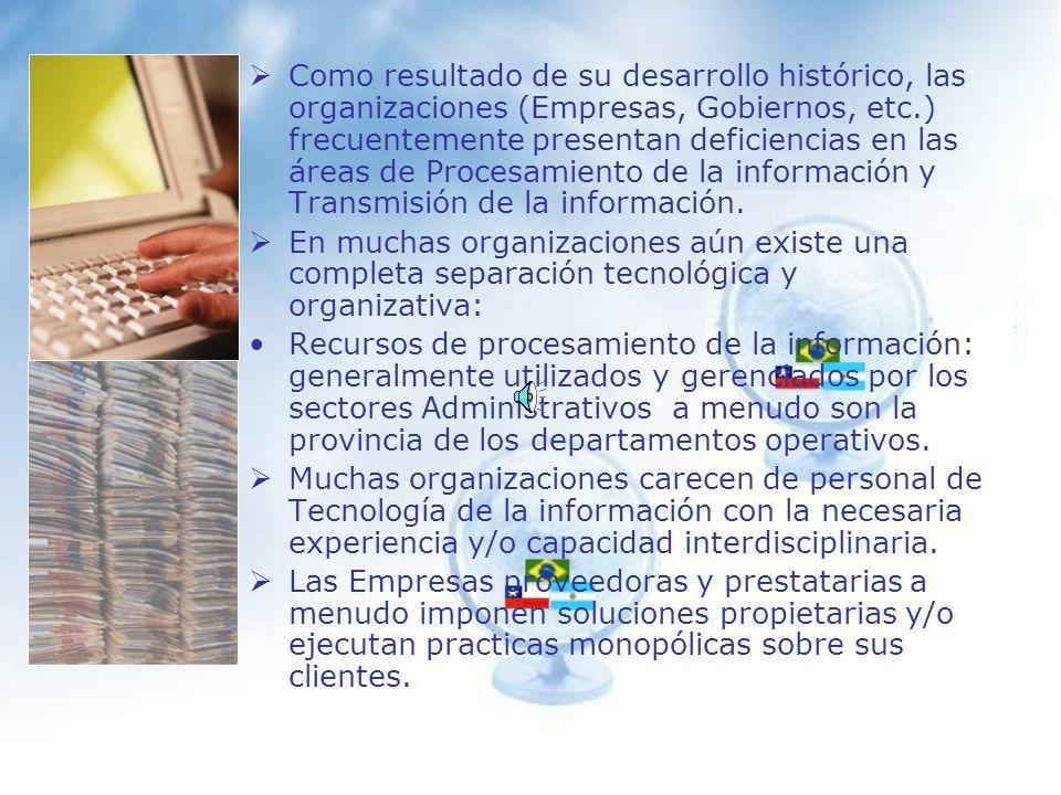 Tecnología de la Información en las Organizaciones Un diagnóstico.
