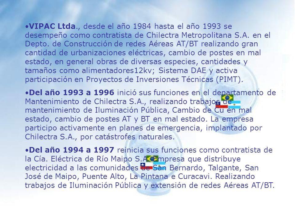 Antecedentes EMPAC S.A.La empresa EMPAC S.A. inicio sus actividades en Enero de 1997.