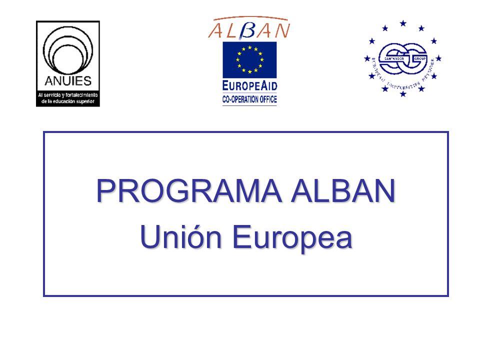 PROGRAMA ALBAN Unión Europea