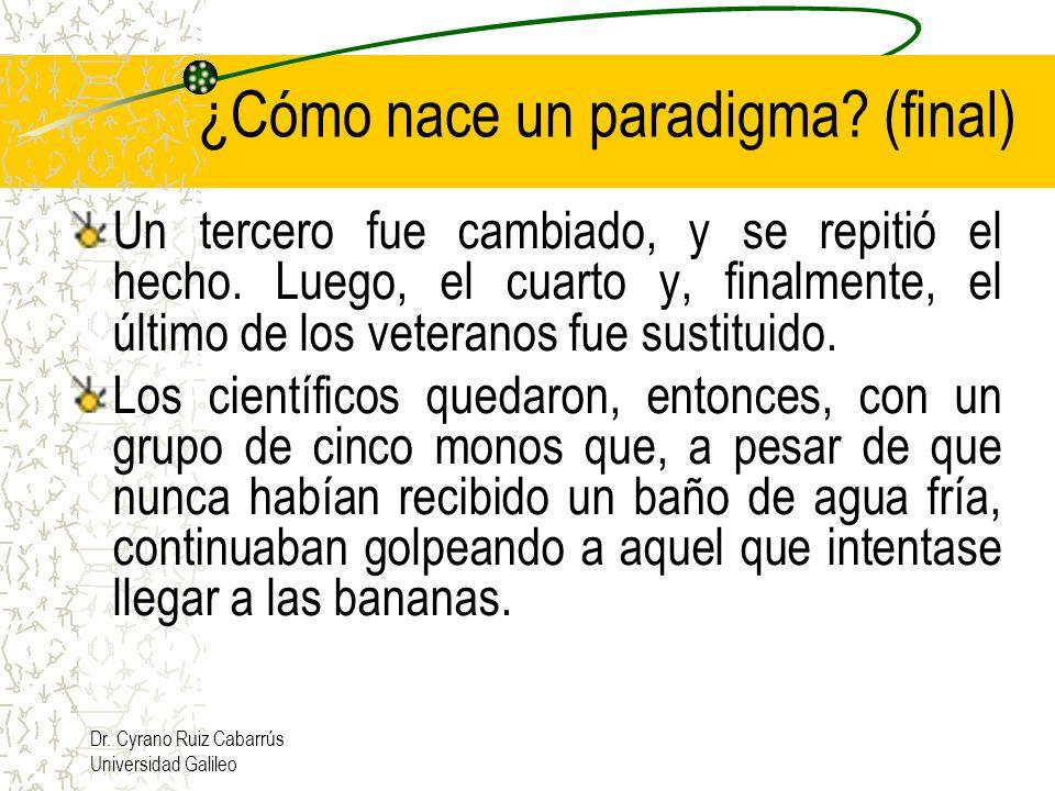 Dr. Cyrano Ruiz Cabarrús Universidad Galileo Un tercero fue cambiado, y se repitió el hecho. Luego, el cuarto y, finalmente, el último de los veterano