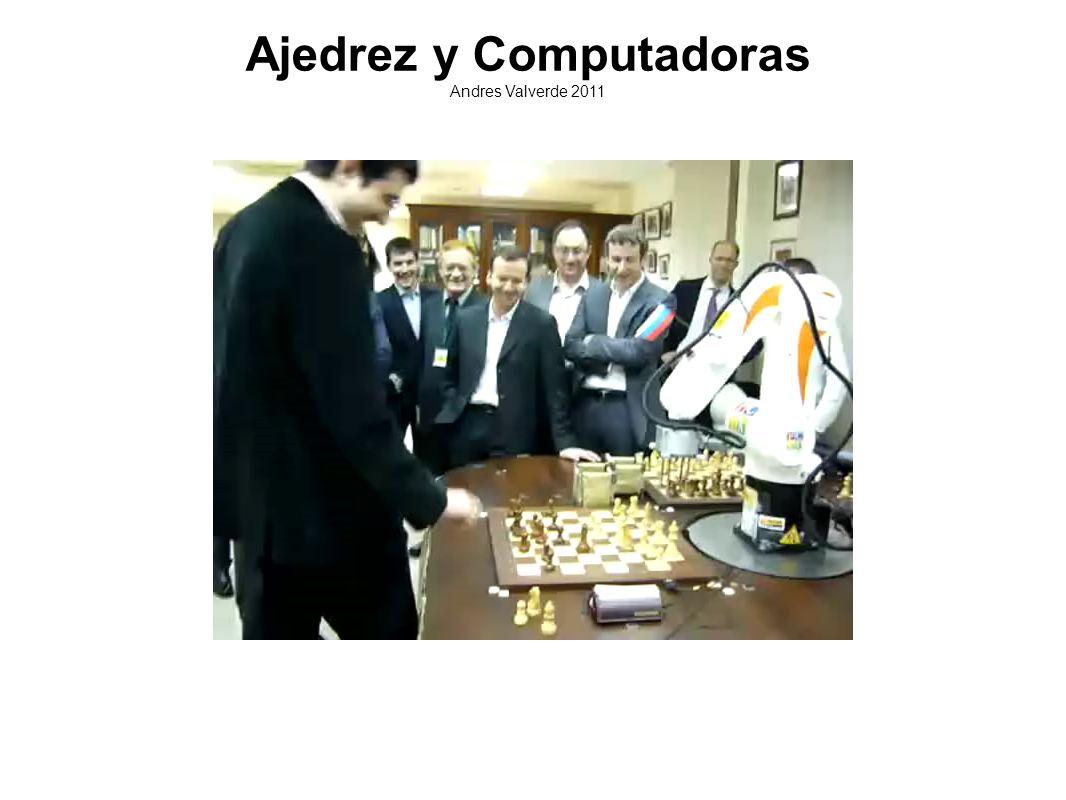 Hitos históricos 1950 Teorías de Shannon 1956 Los Alamos Chess 1956 Invencion de Alpha-Beta 1957 Primeros programas completos 1967 Primera victoria sobre un humano en condiciones de torneo 1974 Primer Campeonato mundial de programas.