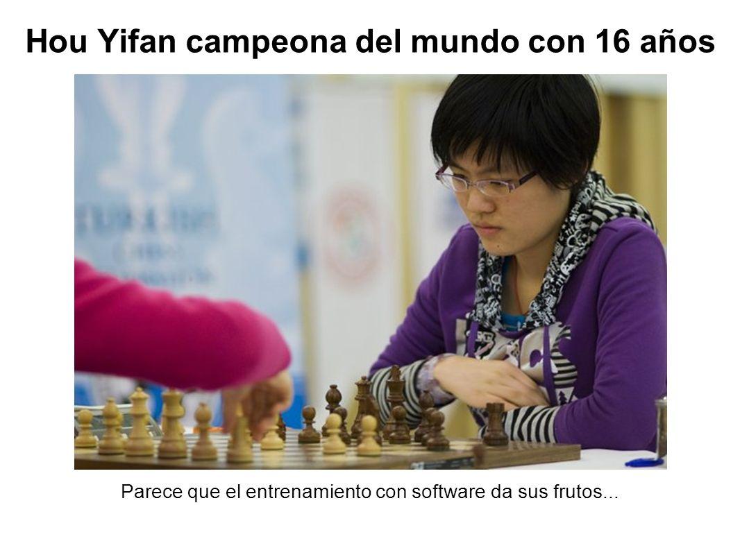 Hou Yifan campeona del mundo con 16 años Parece que el entrenamiento con software da sus frutos...