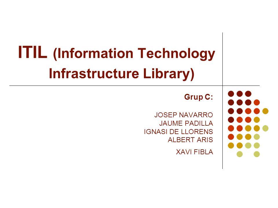 ITIL (Information Technology Infrastructure Library) Grup C: JOSEP NAVARRO JAUME PADILLA IGNASI DE LLORENS ALBERT ARIS XAVI FIBLA