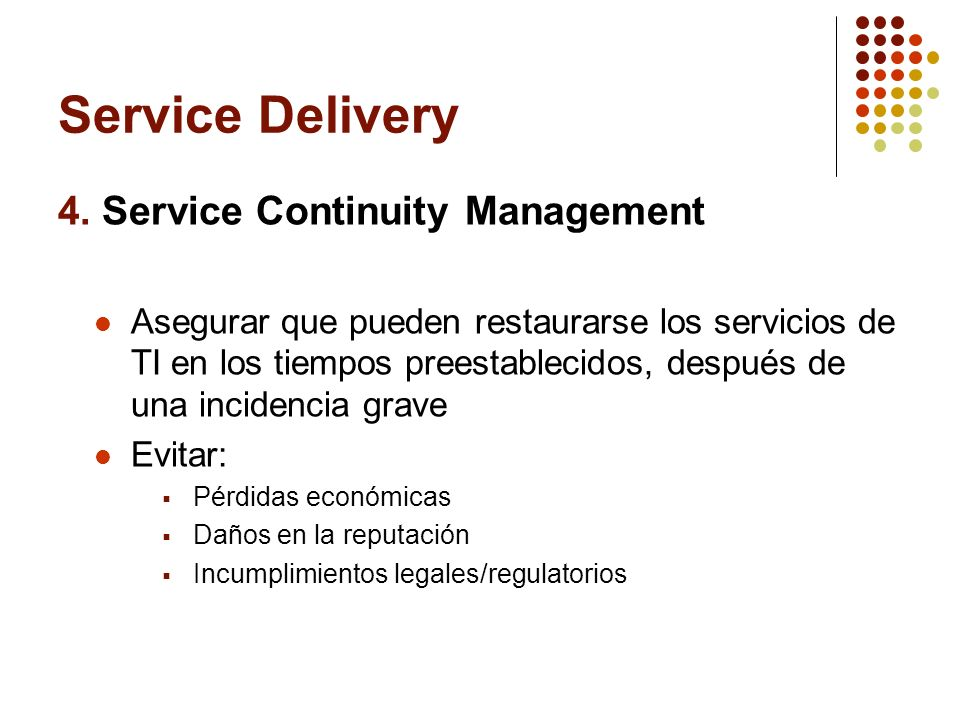 Service Delivery 4.