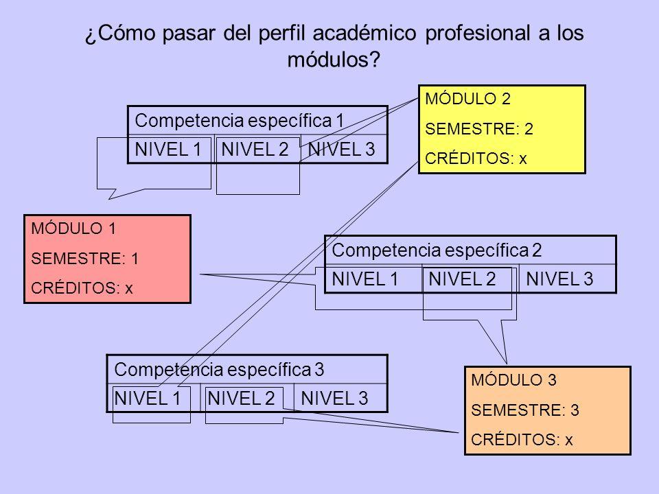 ¿Cómo pasar del perfil académico profesional a los módulos.
