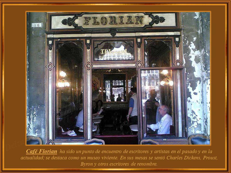 La Gran Venecia sólo puede ser vista en sus palacios y museos, pero es en sus históricos cafés que se puede sentir, todavía exudantes los elegantes ef