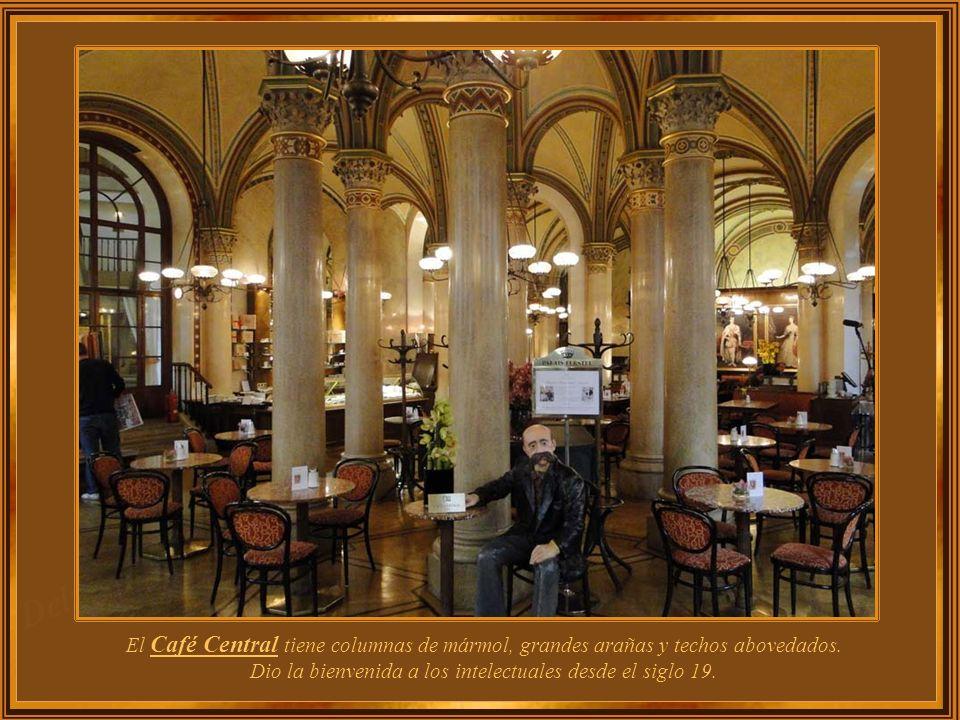 Ubicado en un edificio histórico, el Café Central, como la mayoría de los cafés históricos de Viena, recibe una gran cantidad de turistas que visitan