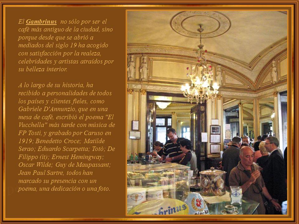 Fundado en 1860, Café Gambrinus pronto fue reconocido por el Decreto Real como Proveedor de la Casa Real.
