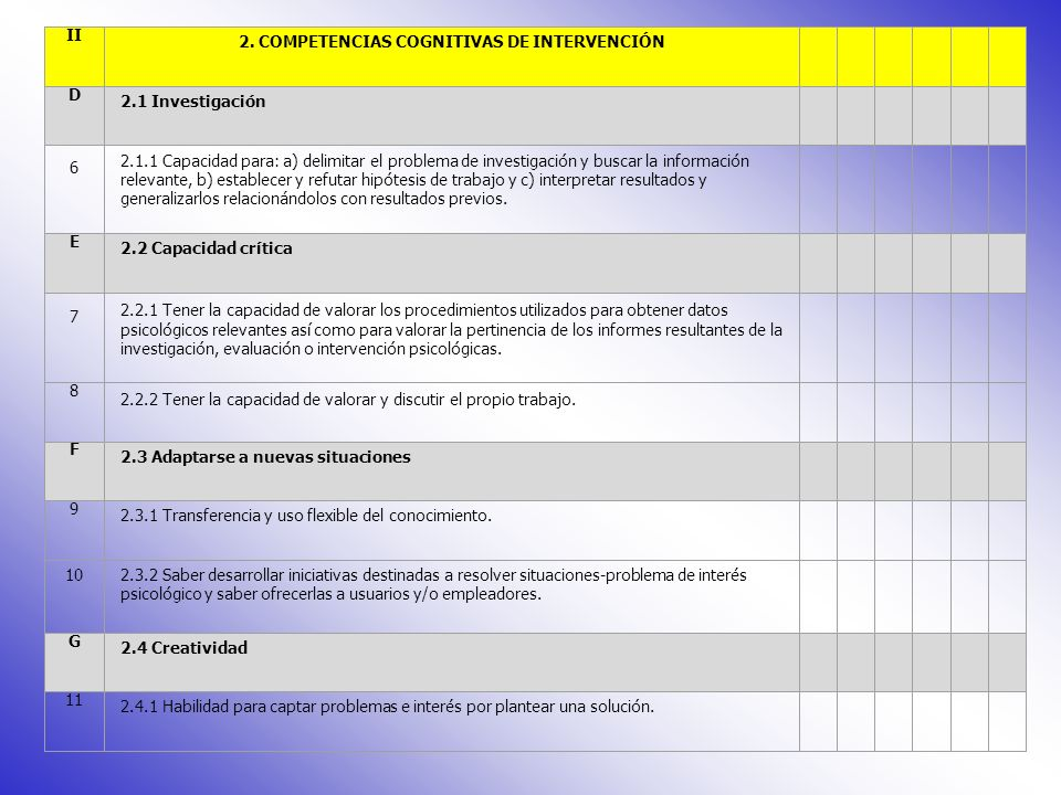 NºCompetencia 012345 I 1.