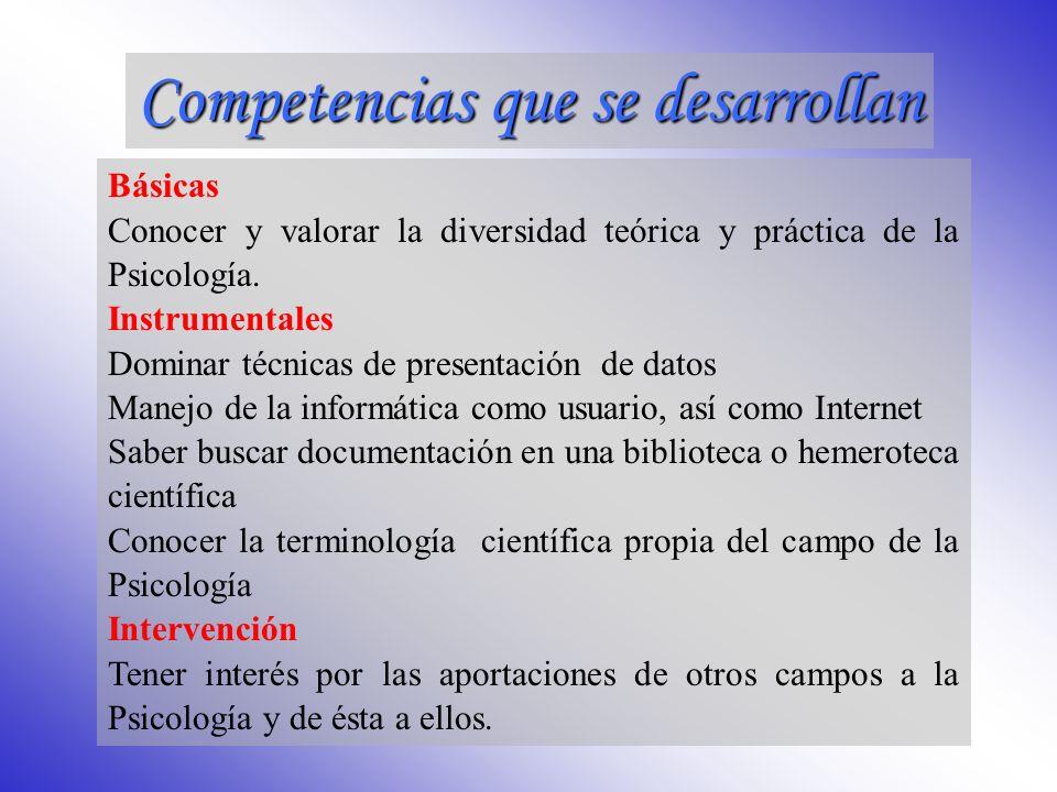 Procedimentales.Desarrollar los conocimientos metodológicos asociados a la Psicobiología.