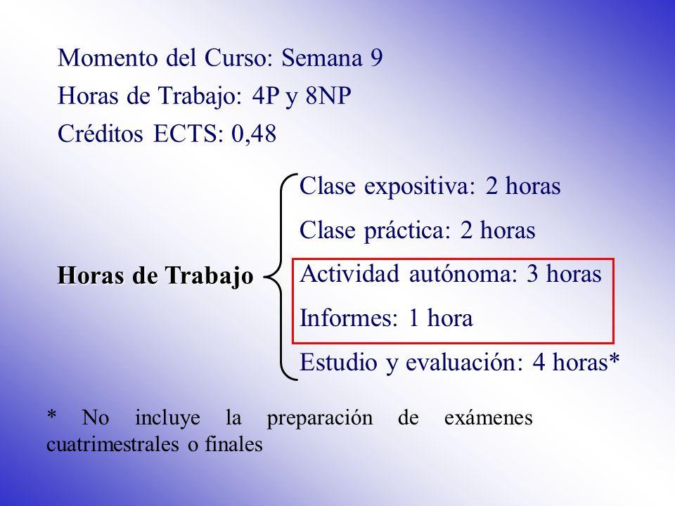 Evaluación Clase expositiva: Evaluación continua mediante examen tipo test (existe la opción de examen final para quienes así lo prefieran o suspendan algún examen en la evaluación continua).