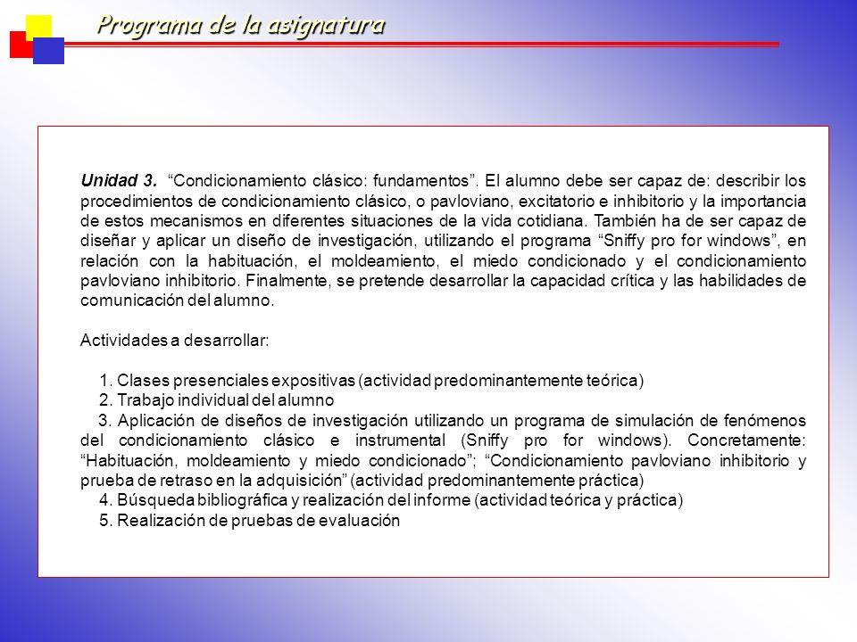 7.CONTENIDOS DE LA ASIGNATURA 7.1. Unidades de contenido (descripción) Unidad 1.