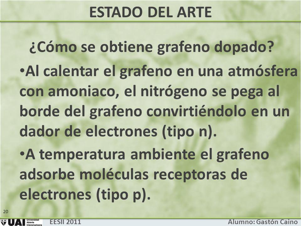 EESII 2011 Alumno: Gastón Caino 20 ¿Cómo se obtiene grafeno dopado.