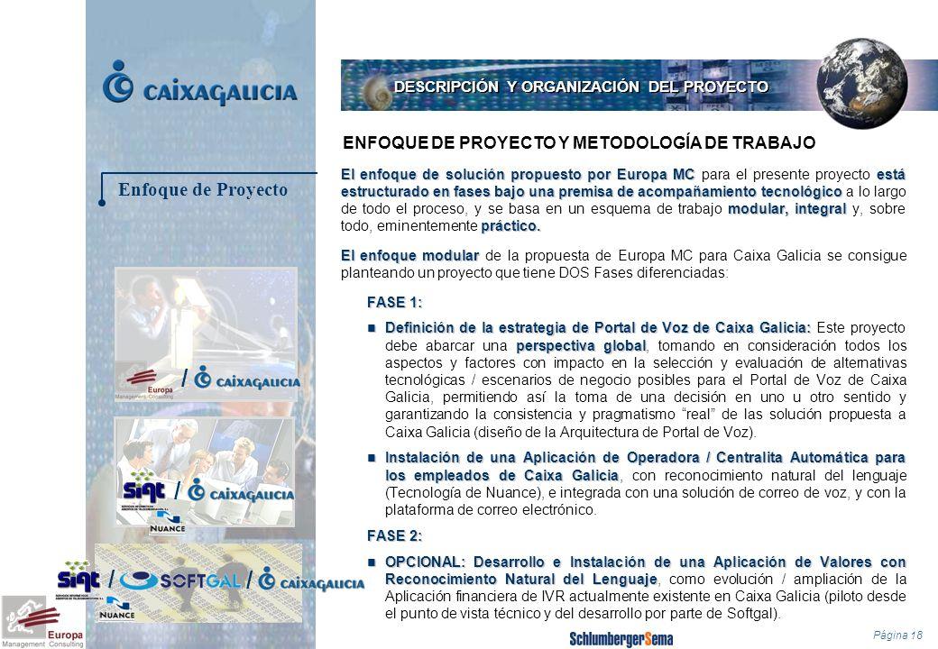 Página 18 El enfoque de solución propuesto por Europa MCestá estructurado en fasesbajo una premisa de acompañamiento tecnológico modular, integral prá