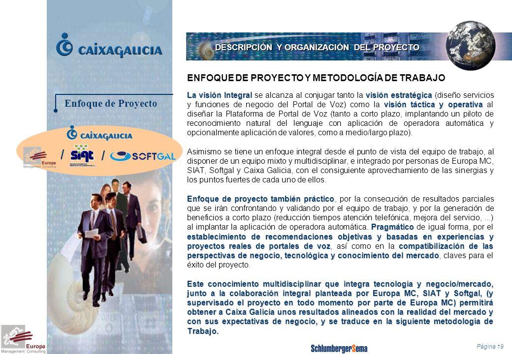 Página 19 La visión Integralvisión estratégica visión táctica y operativa La visión Integral se alcanza al conjugar tanto la visión estratégica (diseñ