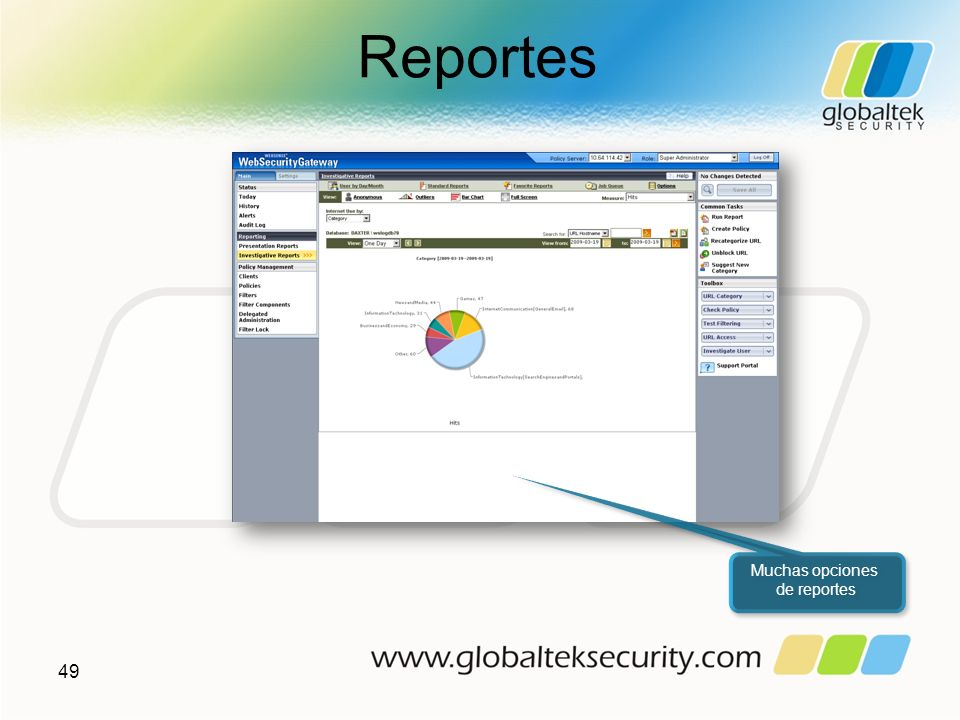 Reportes 49 Muchas opciones de reportes Muchas opciones de reportes