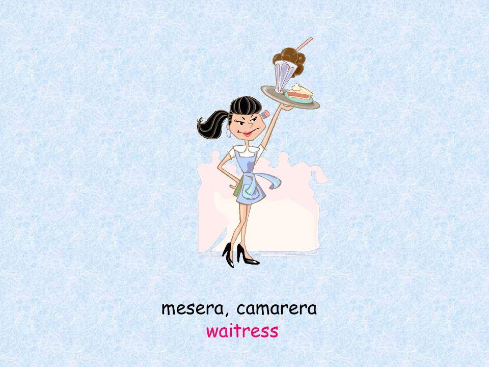 mesera, camarera waitress
