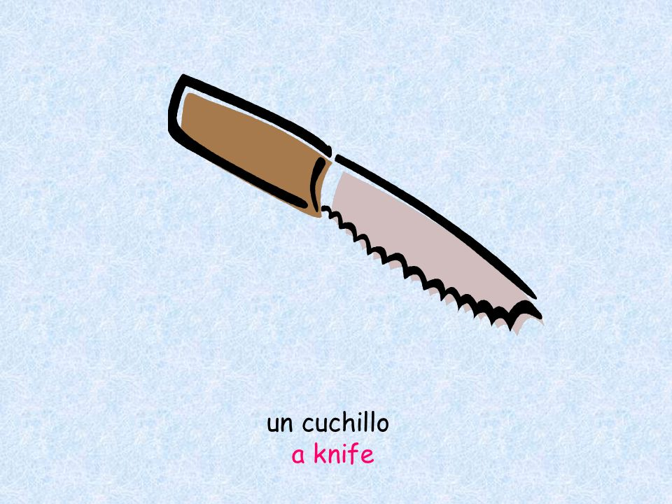 un cuchillo a knife