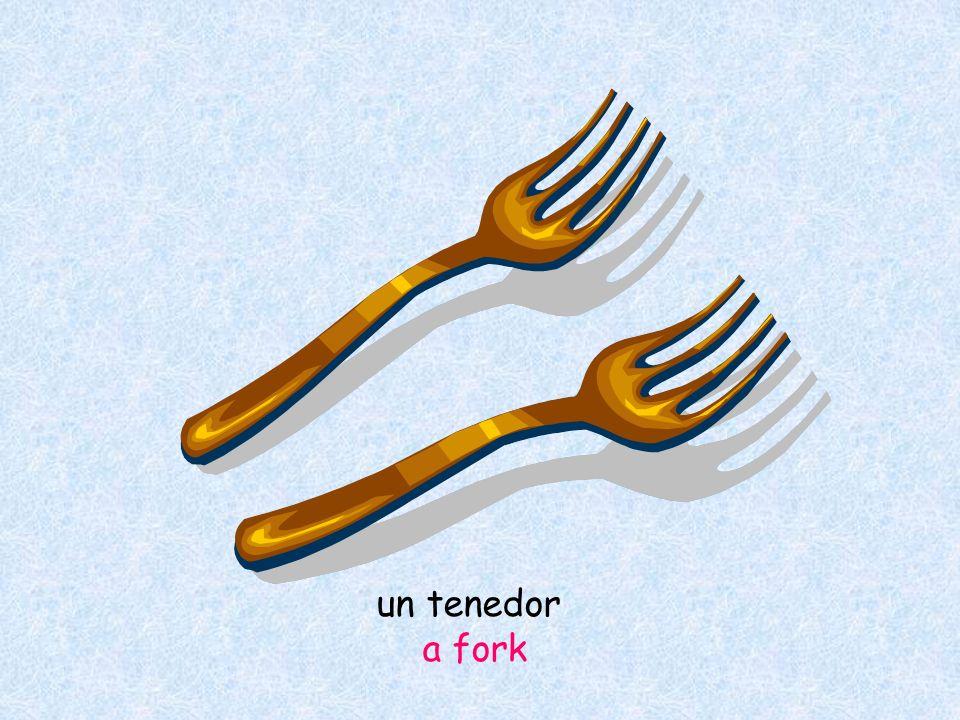un tenedor a fork