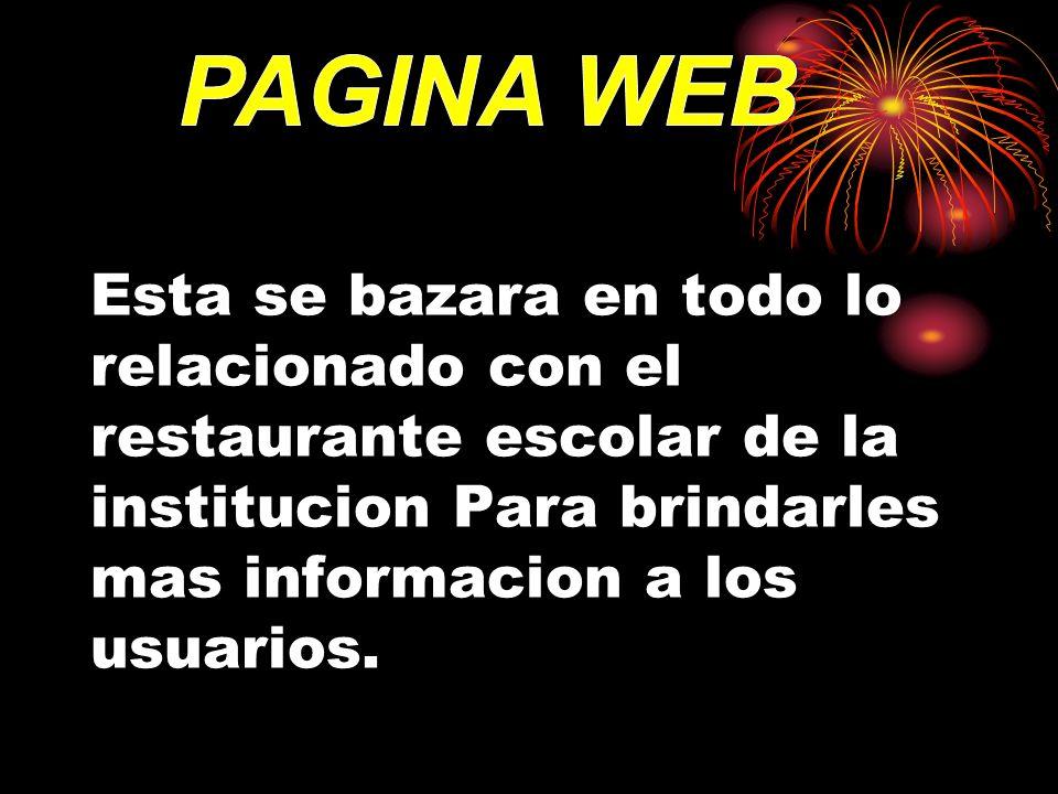 GENERAL: implementar mediate la pagina web un software que nos de la facilidad para el ingreso de los usuarios al servicio.