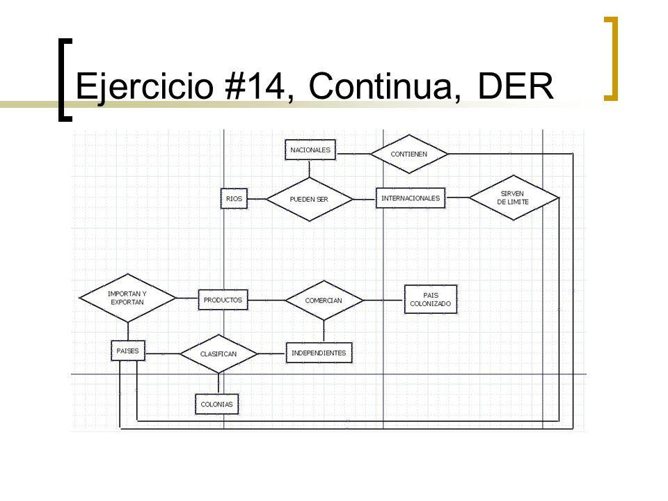 Ejercicio #14, Continua, DER
