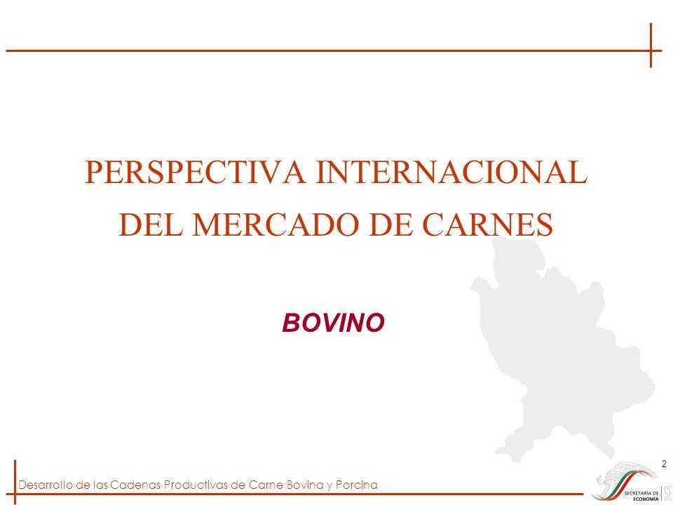 Desarrollo de las Cadenas Productivas de Carne Bovina y Porcina 2 PERSPECTIVA INTERNACIONAL DEL MERCADO DE CARNES BOVINO