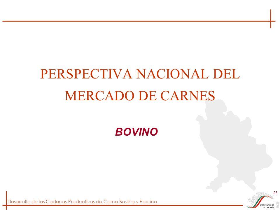 Desarrollo de las Cadenas Productivas de Carne Bovina y Porcina 23 PERSPECTIVA NACIONAL DEL MERCADO DE CARNES BOVINO
