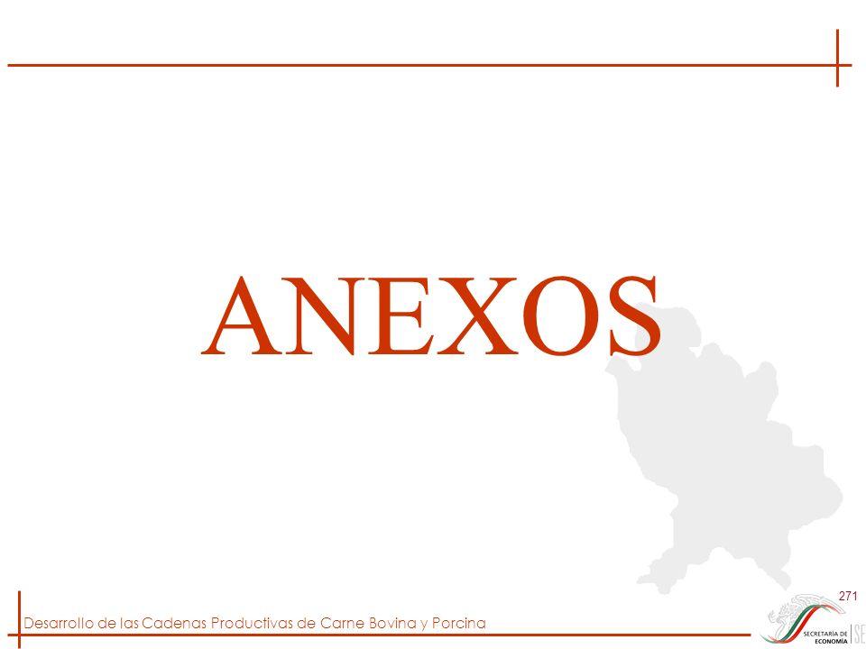Desarrollo de las Cadenas Productivas de Carne Bovina y Porcina 271 ANEXOS