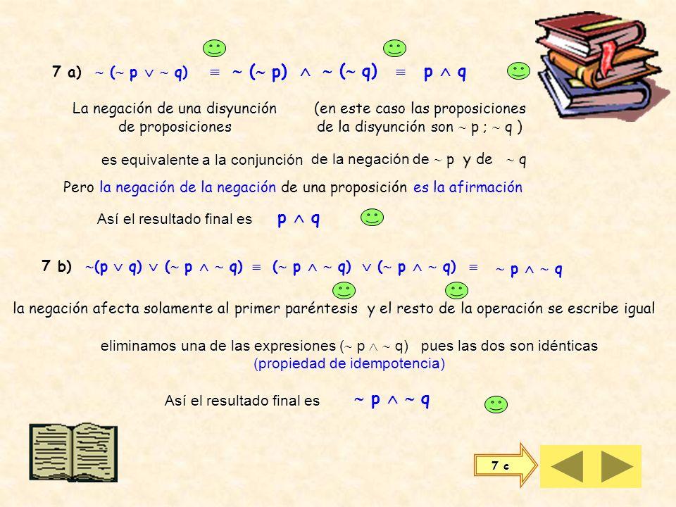 pq p q q p (p q) (q p) p q (p q) [(p q) (q p)] VVVVVVV VFFVFFV FVVFFFV FFVVVVV Otra equivalencia que nos conviene considerar es: La doble implicación