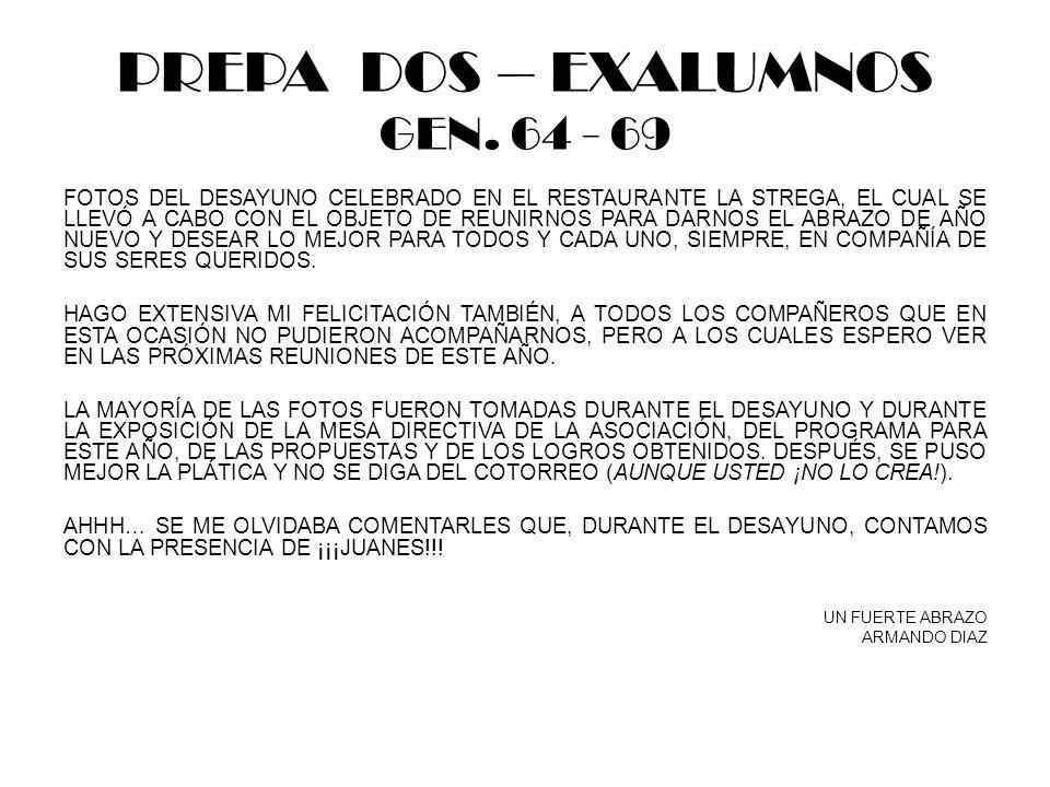 PREPA DOS – EXALUMNOS GEN.