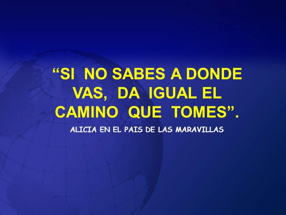 SI NO SABES A DONDE VAS, DA IGUAL EL CAMINO QUE TOMES. ALICIA EN EL PAIS DE LAS MARAVILLAS