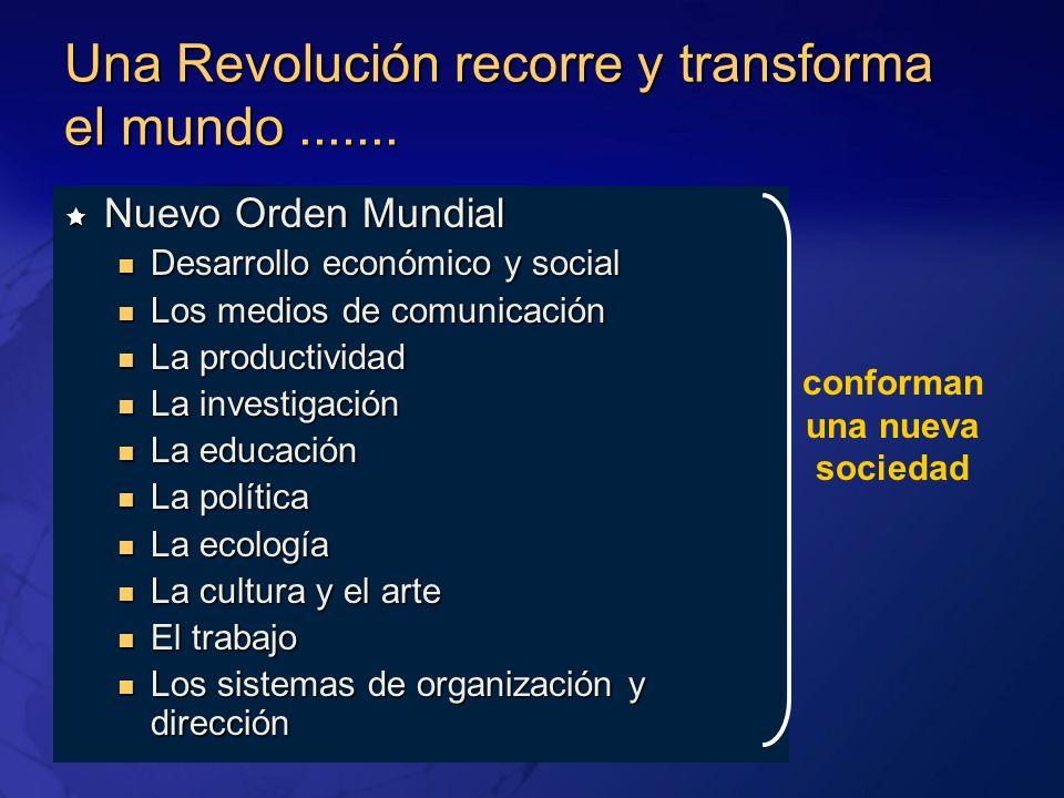 Una Revolución recorre y transforma el mundo....... Nuevo Orden Mundial Nuevo Orden Mundial Desarrollo económico y social Desarrollo económico y socia