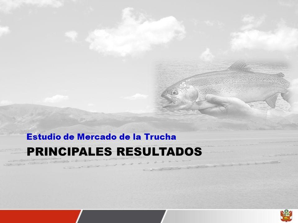 DETERMINACION DE LA OFERTA DE TRUCHA Puno tuvo el 74%, Junín el 14%, Huancavelica el 1,93%, Pasco el 1,41%, Lima el 1,15%