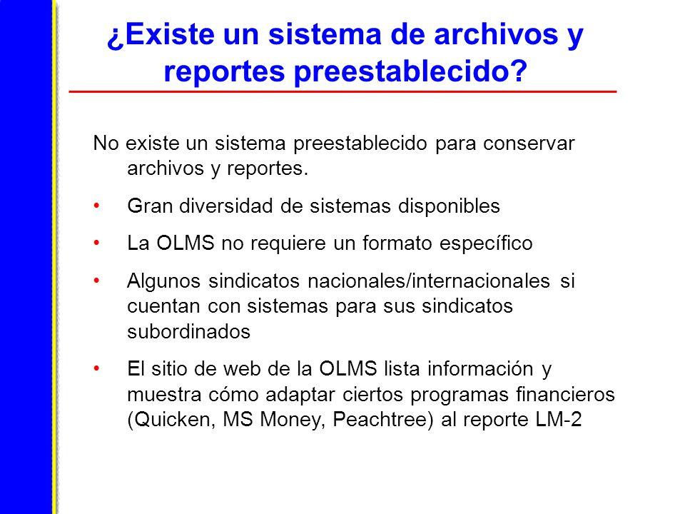 ¿Existe un sistema de archivos y reportes preestablecido.