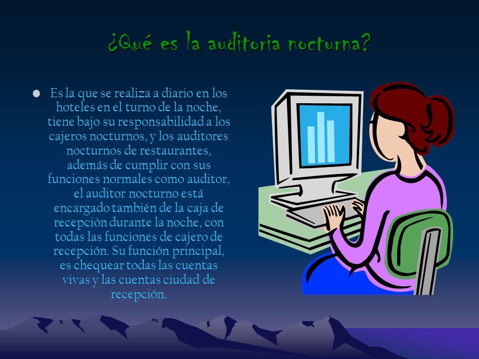 TEMA: ACTIVIDADES DE LA AUDITORIA NOCTURNA PRESENTADO POR Laura Valderrama Laura López Liz Hernández Jeison Gonzáles