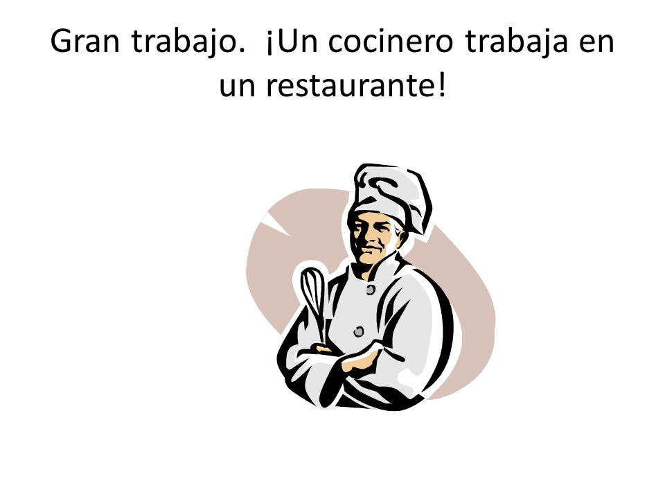 ¿Qué cuadro demuestra alguien que trabaja en un restaurante?