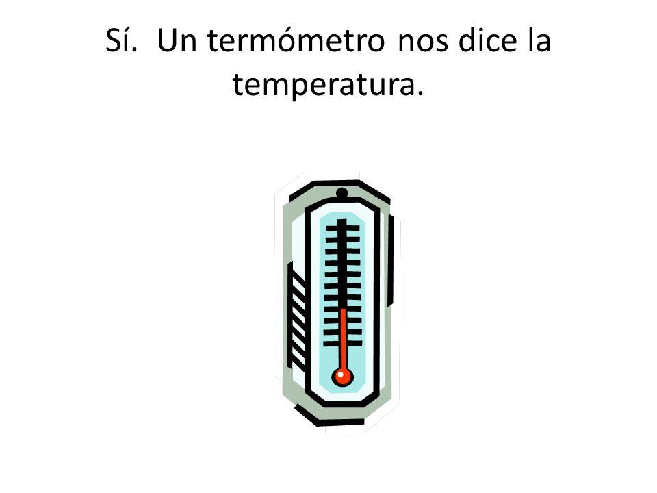 ¿Qué cuadro demuestra lo que miras para saber la temperatura?