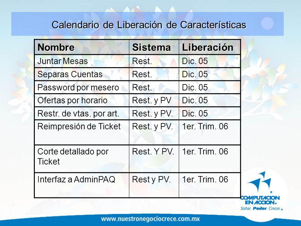 NombreSistemaLiberación Cuentas por pagar (Compras) Rest.