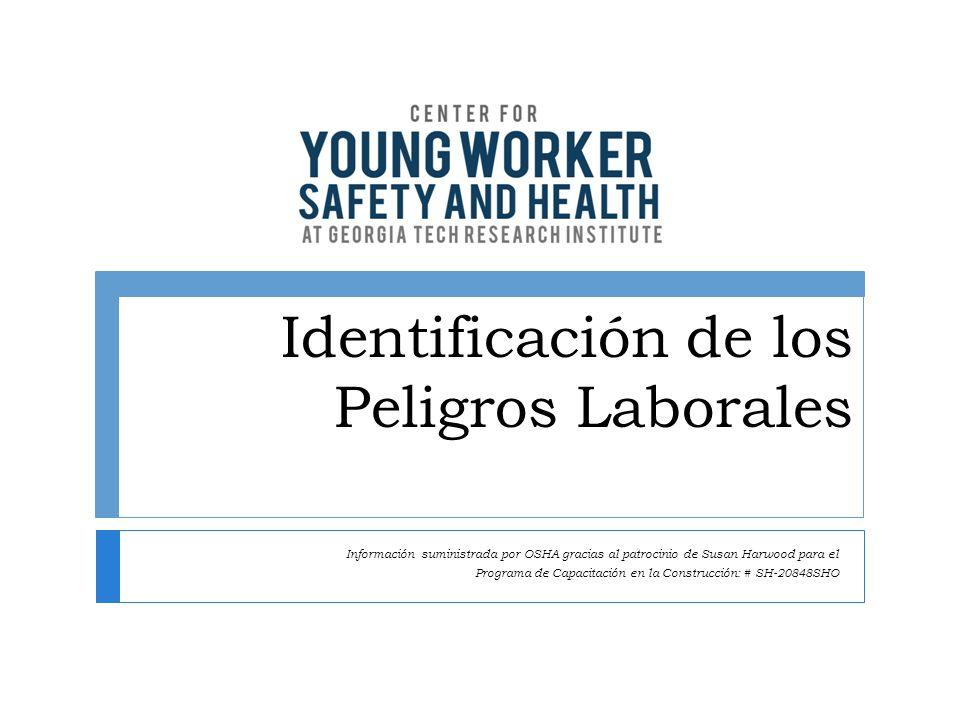 Identificación de los Peligros Laborales Información suministrada por OSHA gracias al patrocinio de Susan Harwood para el Programa de Capacitación en