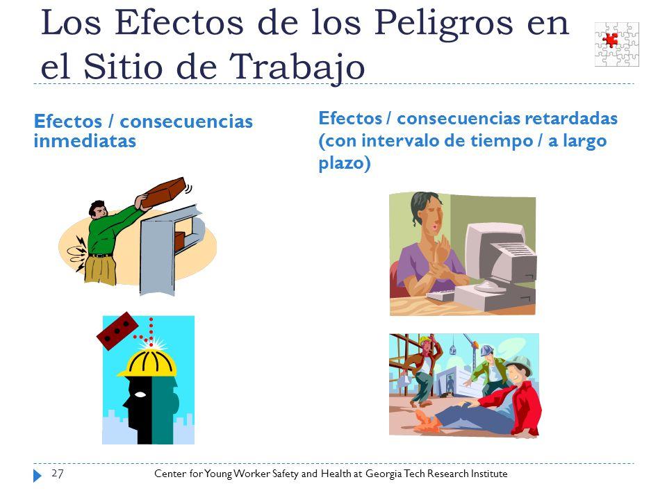 Center for Young Worker Safety and Health at Georgia Tech Research Institute Los Efectos de los Peligros en el Sitio de Trabajo Efectos / consecuencia