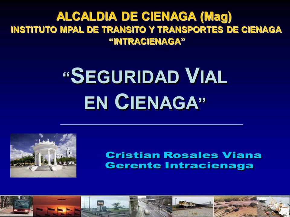 ALCALDIA DE CIENAGA (Mag) INSTITUTO MPAL DE TRANSITO Y TRANSPORTES DE CIENAGA INTRACIENAGA INTRACIENAGA S EGURIDAD V IAL EN C IENAGA S EGURIDAD V IAL