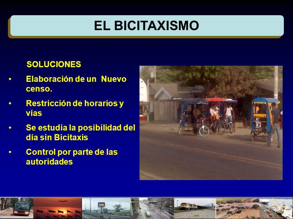 EL BICITAXISMO SOLUCIONES Elaboración de un Nuevo censo.
