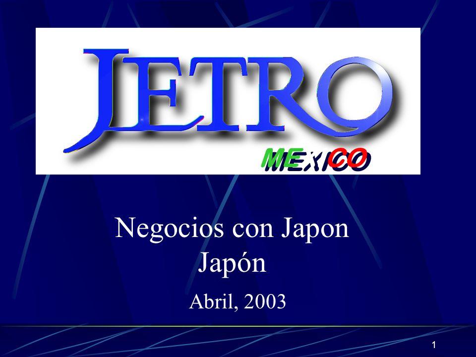 1 MEXICO Negocios con Japon Japón Abril, 2003