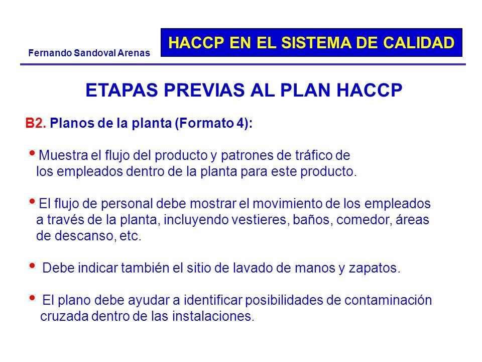 HACCP EN EL SISTEMA DE CALIDAD Fernando Sandoval Arenas B2. Planos de la planta (Formato 4): Muestra el flujo del producto y patrones de tráfico de lo