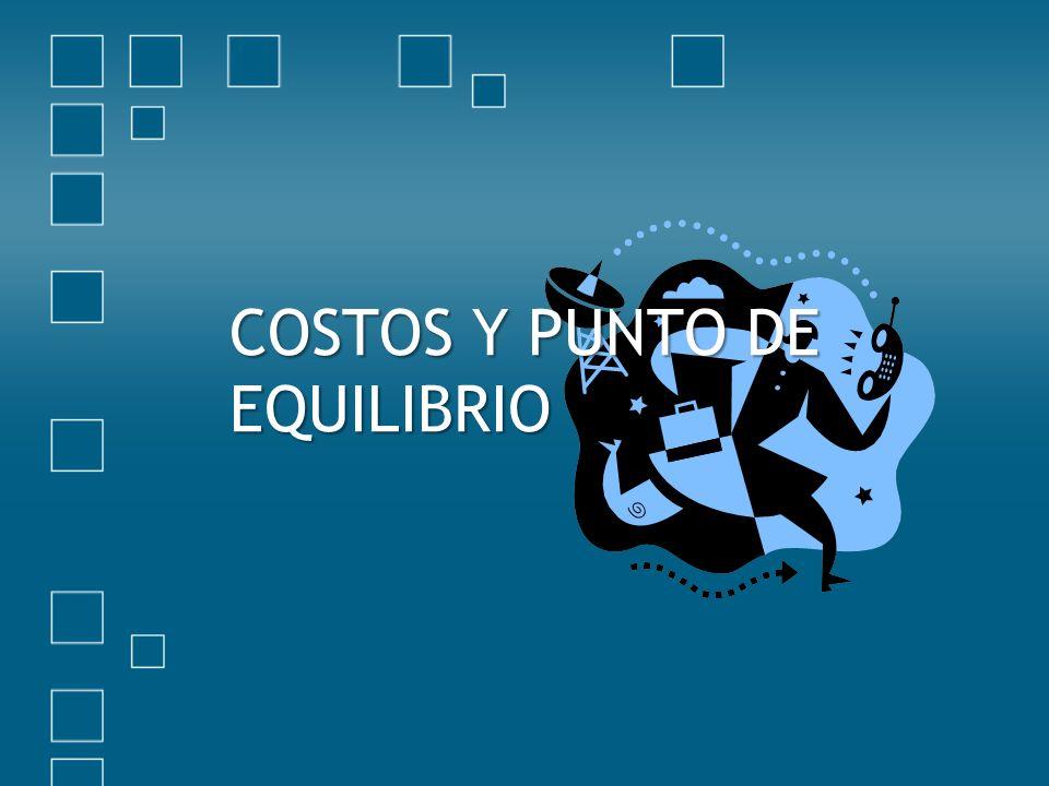 COSTOS Y PUNTO DE EQUILIBRIO