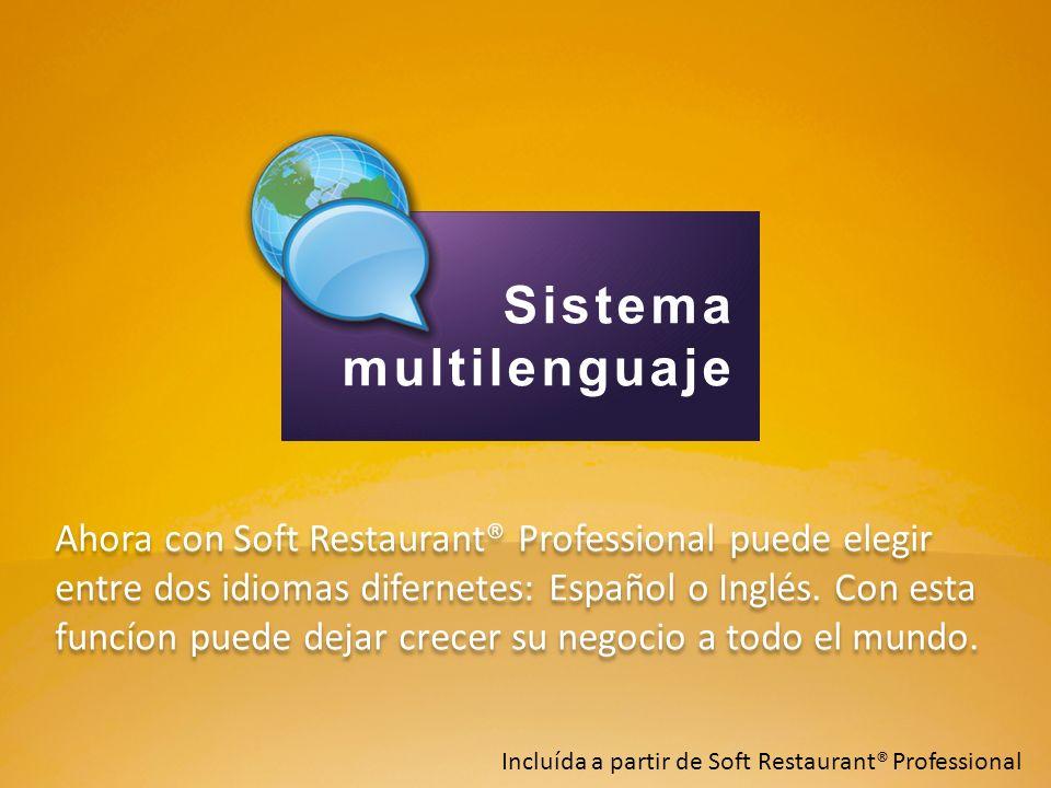 Ahora con Soft Restaurant® Professional puede elegir entre dos idiomas difernetes: Español o Inglés. Con esta funcíon puede dejar crecer su negocio a