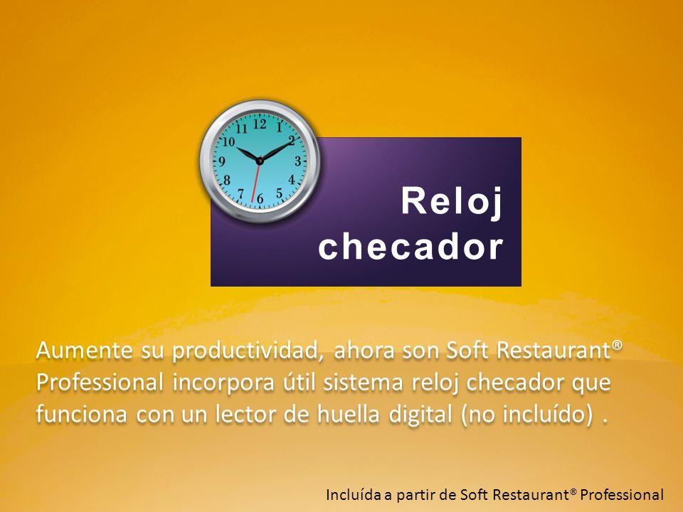 Aumente su productividad, ahora son Soft Restaurant® Professional incorpora útil sistema reloj checador que funciona con un lector de huella digital (