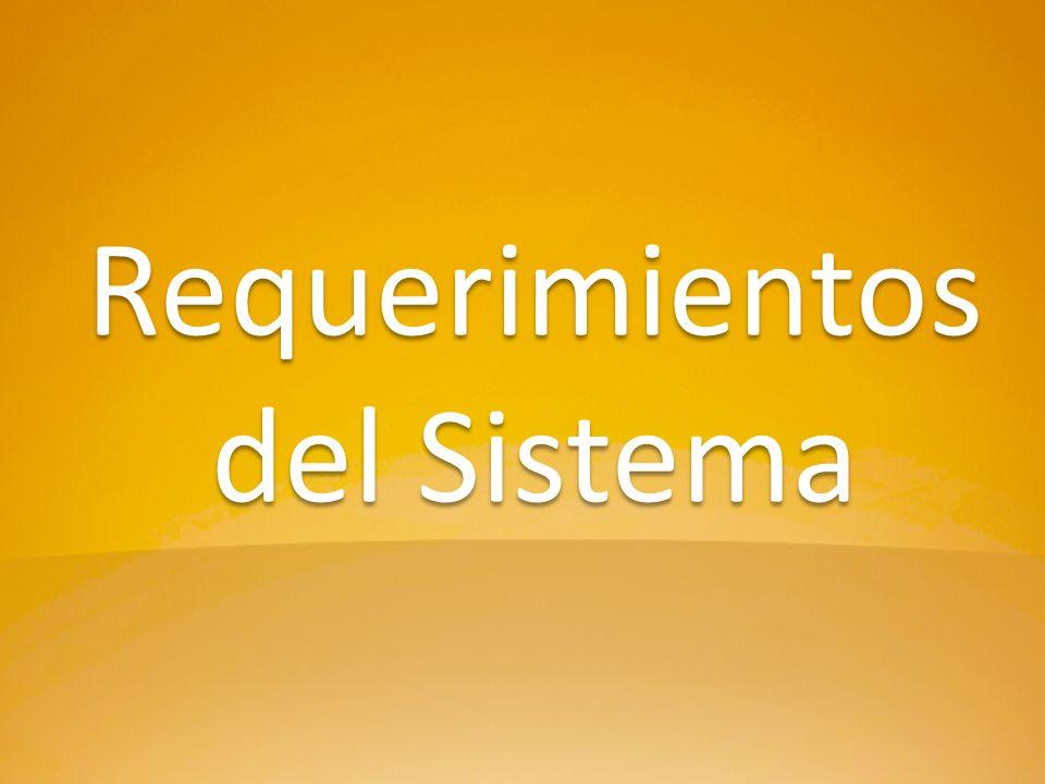 Requerimientos del Sistema